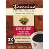 Teeccino, Обжаренный травяной чай со вкусом ванили, средняя обжарка, без кофеина, 10 чайных пакетиков, 60 г