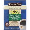 Teeccino, Roasted Herbal Tea, Dandelion Mocha Mint, Caffeine Free, 10 Tea Bags, 2.12 oz (60 g)