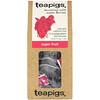 TeaPigs, Bursting with Super Berries, Super Fruit, Caffeine Free, 15 Tea Temples, 1.3 oz (37.5 g)