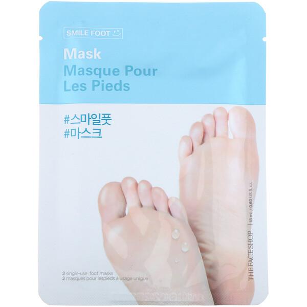The Face Shop, Маска для ног Smile, 2 одноразовые маски для ног