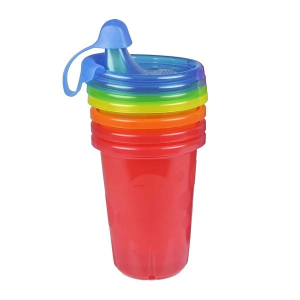 Take & Toss, чашки-непроливашки, 9+ месяцев, 4 шт. - 10 унций(296 мл) каждая