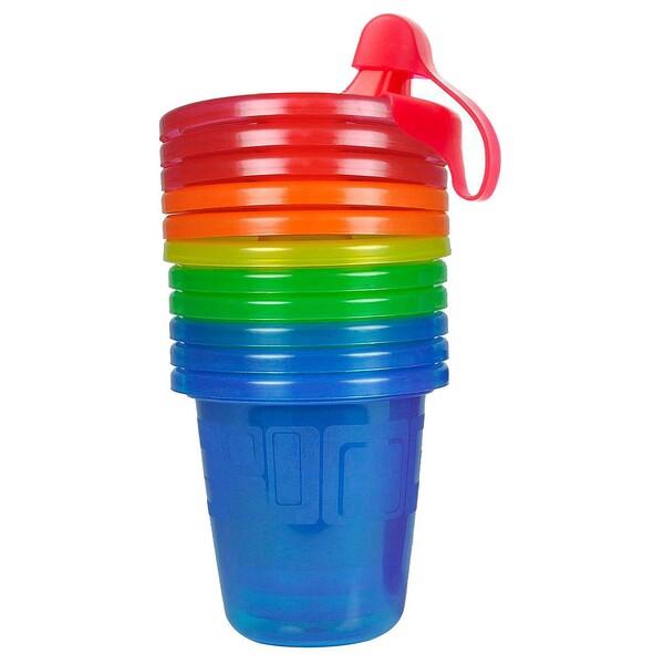 Take & Toss, чашки-непроливашки, 6+месяцев, 6 шт. - 7 унций(207 мл) каждая