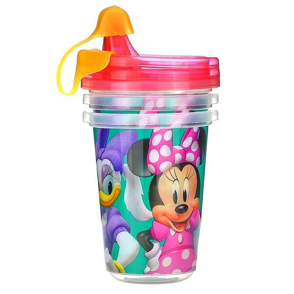Дисней, Минни Маус, чашки-непроливашки, 9+ месяцев, 3 шт. - 10 унций(296 мл)