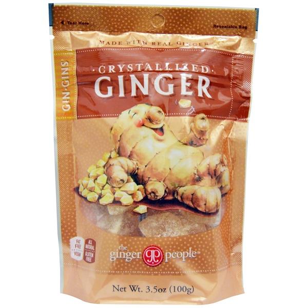 The Ginger People, Gin·Gins, кристаллизированный имбирь, 3,5 унций (100 г)