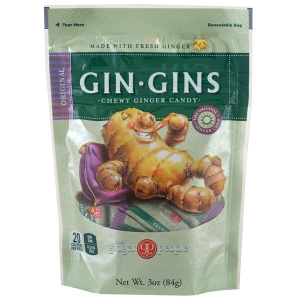 Gin·Gins, жевательное имбирное печенье, оригинальное, 3 унц. (84 г)
