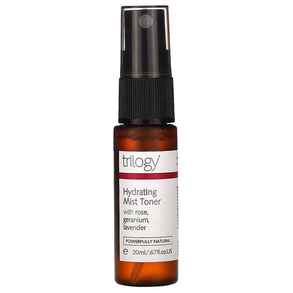 Trilogy, Hydrating Mist Toner with Rose, Geranium, Lavender, .67 fl oz (20 ml) (Discontinued Item)