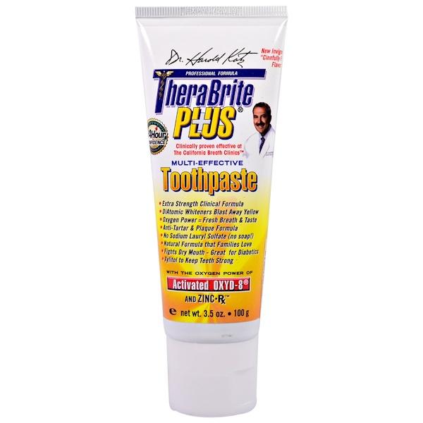 TheraBreath, TheraBrite Plus, мульти-эффективная зубная паста, 3,5 унции (100 г) (Discontinued Item)
