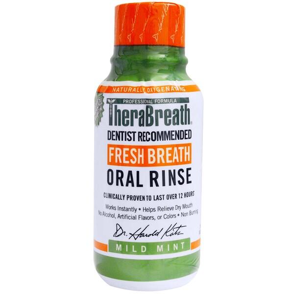 Ополаскиватель для рта Fresh Breath, мягкий вкус мяты, 3 жидких унции (88,7 мл)