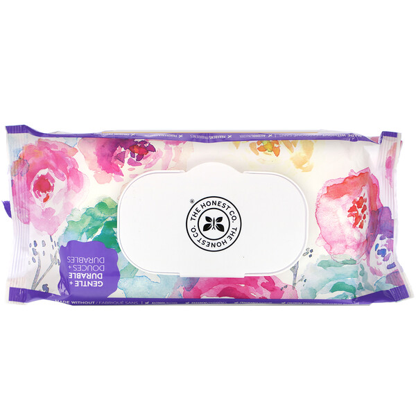 The Honest Company, Plant-Based Wipes, Rose Blossom, 72 Wipes