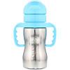 Think, Thinkbaby, Thinkster в виде стальной бутылки, синяя, 1 соломенная бутылка, 9 унций (260 мл)