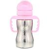 Think, Thinkbaby, Thinkster в виде стальной бутылки, розовая, 1 бутылка с соломинкой, 9 унц. (260 мл)