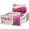 ThinkThin, Высокопротеиновые батончики, шоколадная помадка, 10батончиков по 60г (2,1унции)