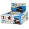ThinkThin, Батончики с высоким содержанием белка, печенье и сливки, 10 батончиков, 2,1 унции (60 г) каждый