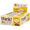 ThinkThin, Высокопротеиновые батончики, лимонное лакомство, 10батончиков по 60г (2,1унции)
