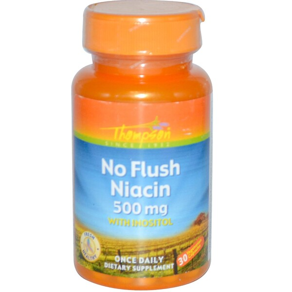 No Flush Niacin, 500 mg, 30 Vegetarian Capsules
