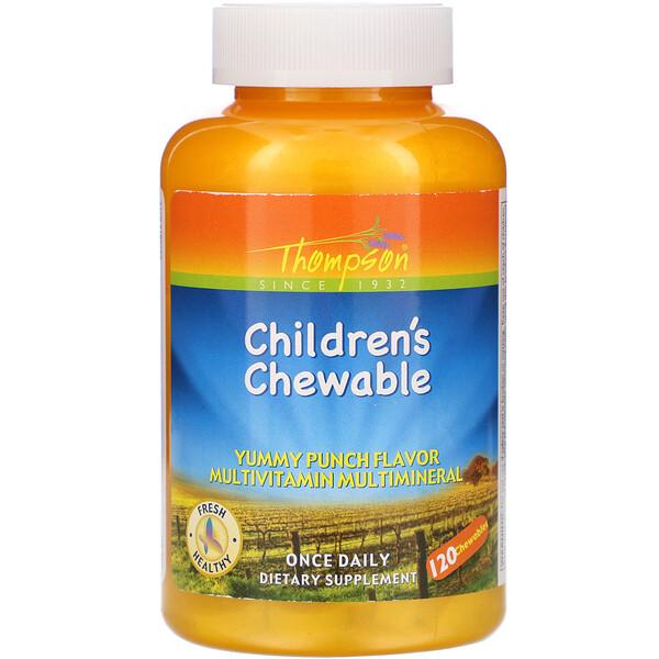 Thompson, Children's Chewable, Yummy Punch Flavor, 120 Chewables