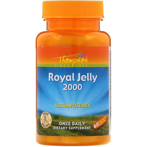 Thompson, маточное молочко, 2000 мг, 60 вегетарианских капсул