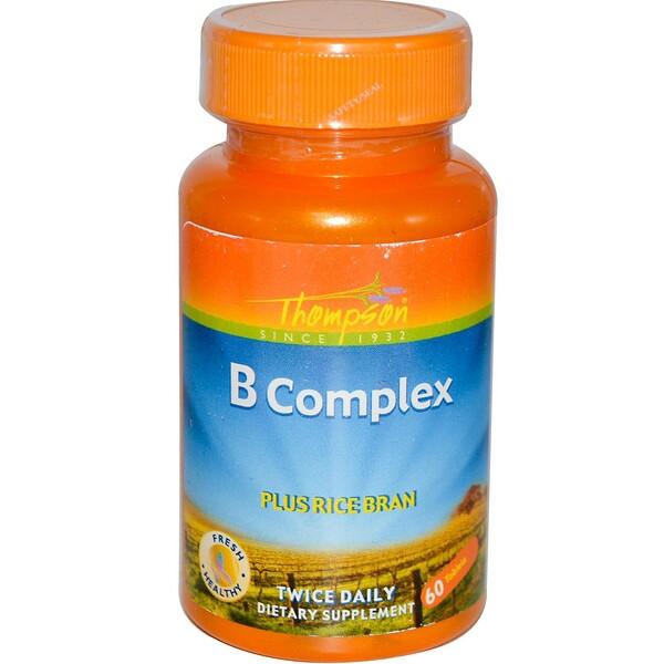 Комплекс витаминов группы B с рисовыми отрубями, 60 таблеток