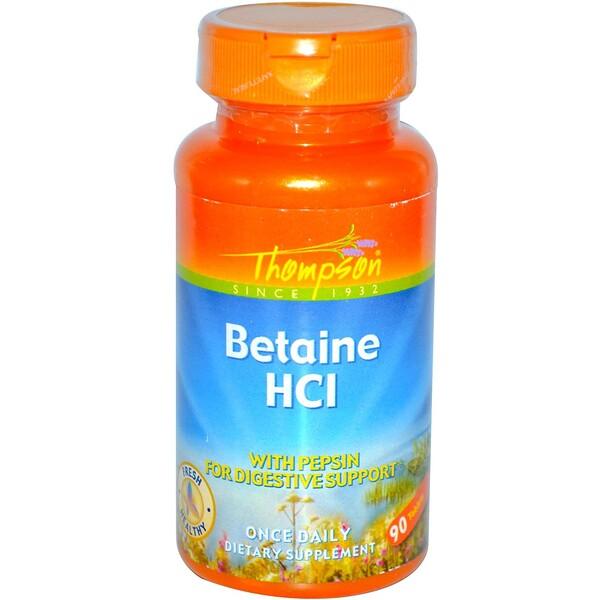 Thompson, Бетаина гидрохлорид, 90 таблеток