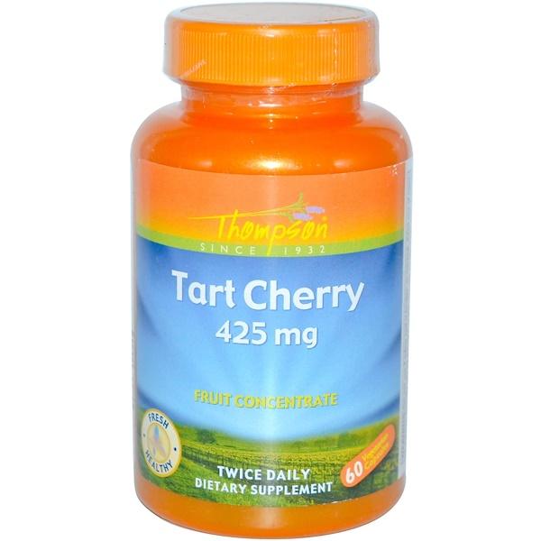 Thompson, Кислая вишня, 425 мг, 60 растительных капсул (Discontinued Item)
