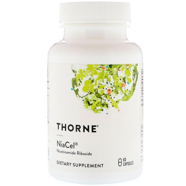 Thorne Research, Niacel, никотинамид рибозид, 60 капсул (Discontinued Item)