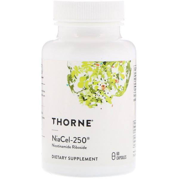 Thorne Research, Niacel-250, никотинамидрибозид, 60 капсул (Discontinued Item)