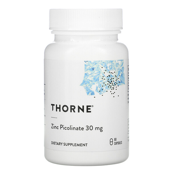 Zinc Picolinate, 30 mg, 60 Capsules