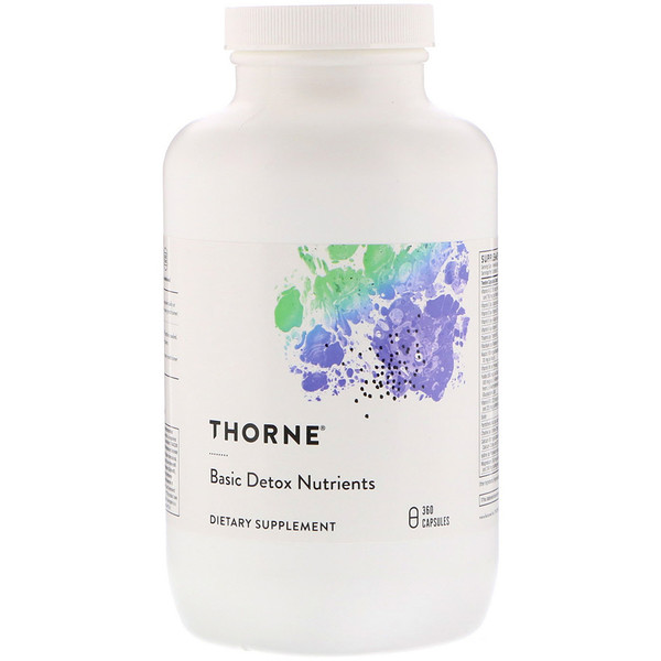 Thorne Research, Basic Detox Nutrients, 360 вегетарианских капсул (Discontinued Item)
