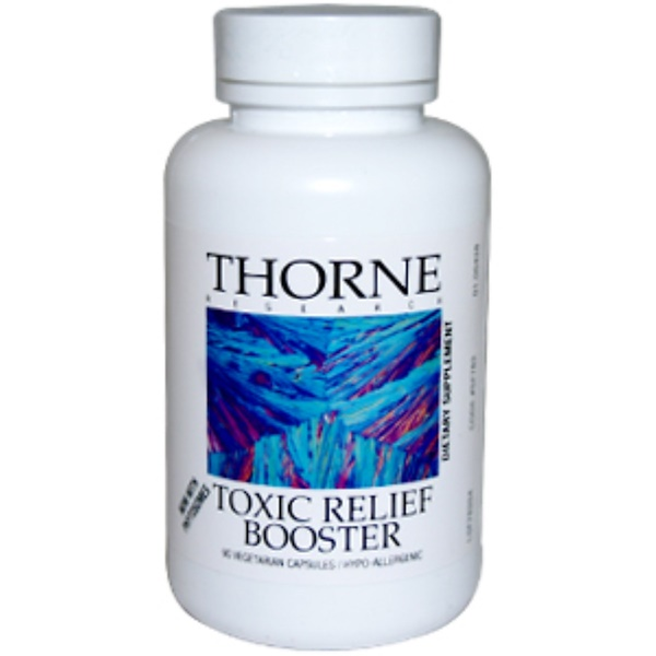 Thorne Research, Toxic Relief Booster, 90 Veggie Caps (Discontinued Item)