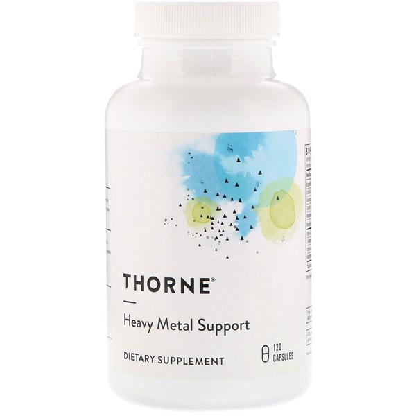 Thorne Research, Поддержка против тяжелых металлов, 120 капсул