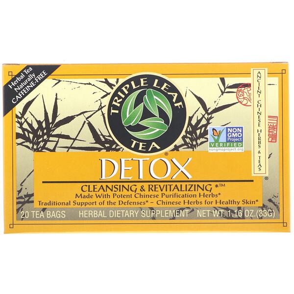 Detox, 20 чайных пакетиков, 1.16 унций (33 г)