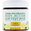 Tierra Mia Organics, Масло для тела, сырое козье молоко, терапия для кожи, лимонная вербена, 4 жидких унции (113 г)