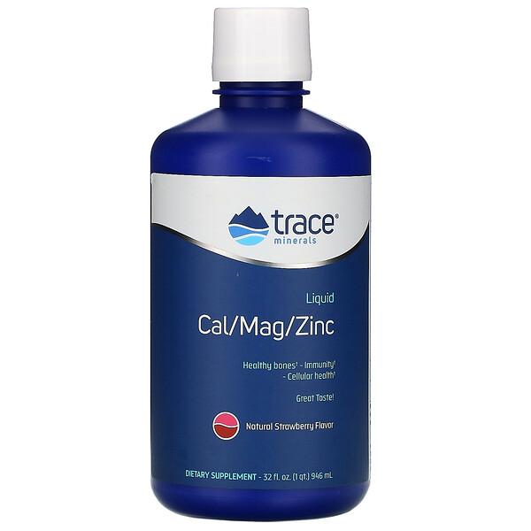 Liquid Cal/Mag/Zinc, Natural Strawberry Flavor, 32 fl oz (946 ml)