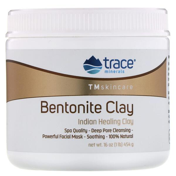 Trace Minerals Research, Бентонитовая глина, индийская лечебная глина, 454г