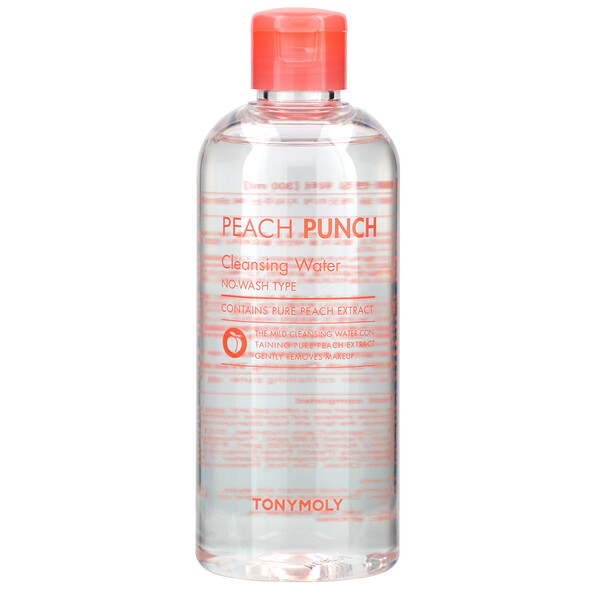 Tony Moly, Peach Punch, Cleansing Water, 10.14 fl oz (300 ml)