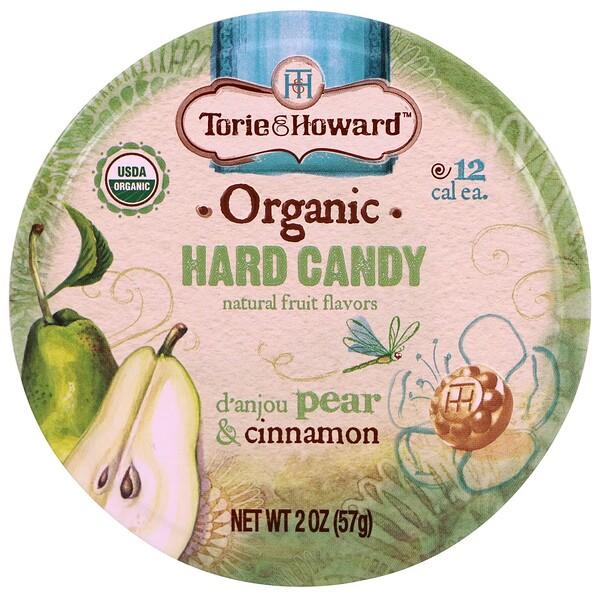 Organic, Hard Candy, D' Anjou Pear & Cinnamon, 2 oz (57 g)