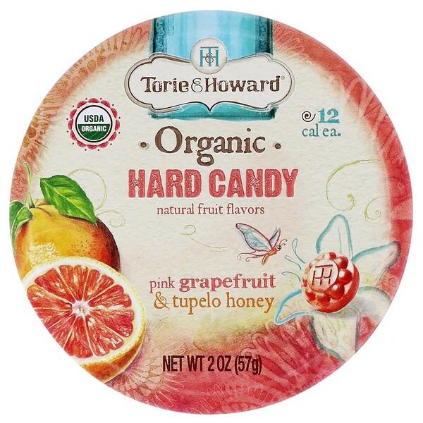 Органические леденцы, розовый грейпфрут и мед Тупело, 57 г (2 унции)