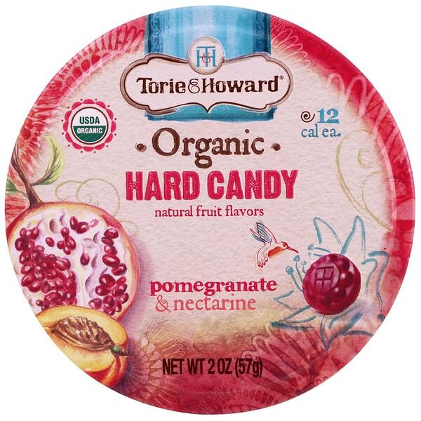 Органические, твердые конфеты, гранат и нектарин, 2 унц. (57 г)
