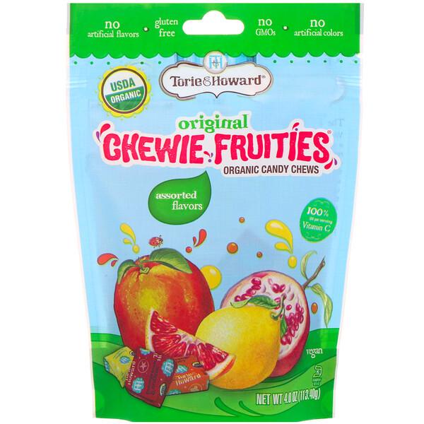 Torie & Howard, Organic Candy Chews, Original Chewie Fruities, Assorted Flavors, 4 oz (113.40 g)