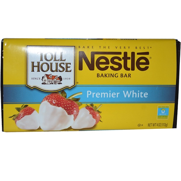 Nestle Toll House, Baking Bar, Premier White, 4 oz (113 g) (Discontinued Item)