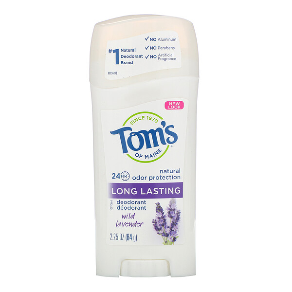 Natural Long Lasting Deodorant, Wild Lavender, 2.25 oz (64 g)