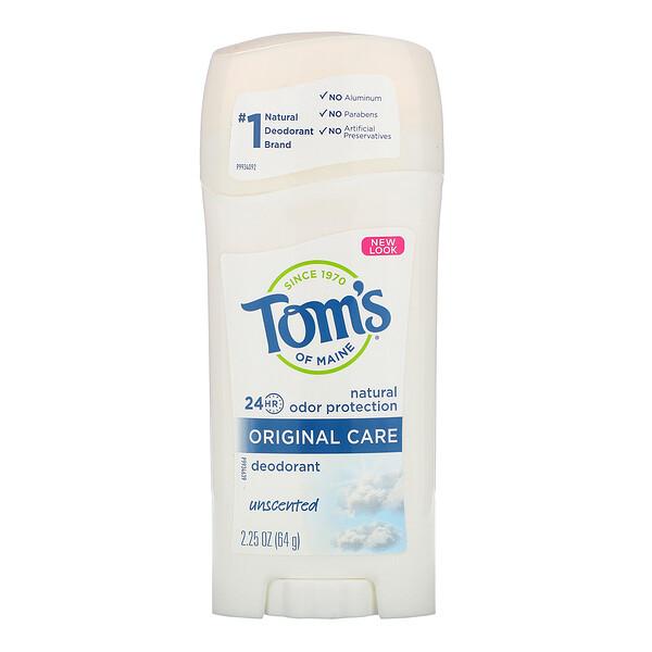 Natural Deodorant, Original Care, Unscented, 2.25 oz (64 g)