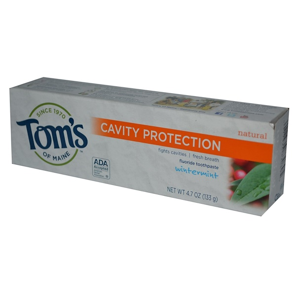 Tom's of Maine, Cavity Protection, Fluoride Toothpaste, Wintermint, 4.7 oz (133 g) (Discontinued Item)