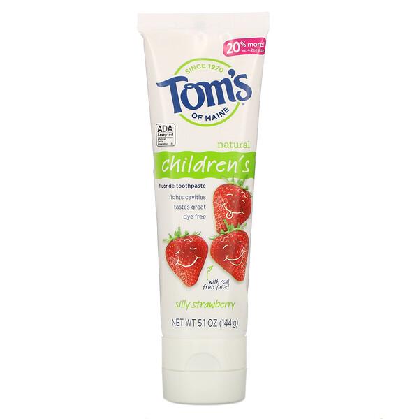 Tom's of Maine, Children's, Fluoride Toothpaste, Silly Strawberry,  5.1 oz (144 g)