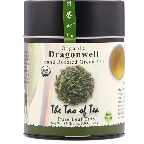 The Tao of Tea, Органический зеленый чай ручной обжарки, Колодец дракона, 3,0 унции (85 гр) (Discontinued Item)