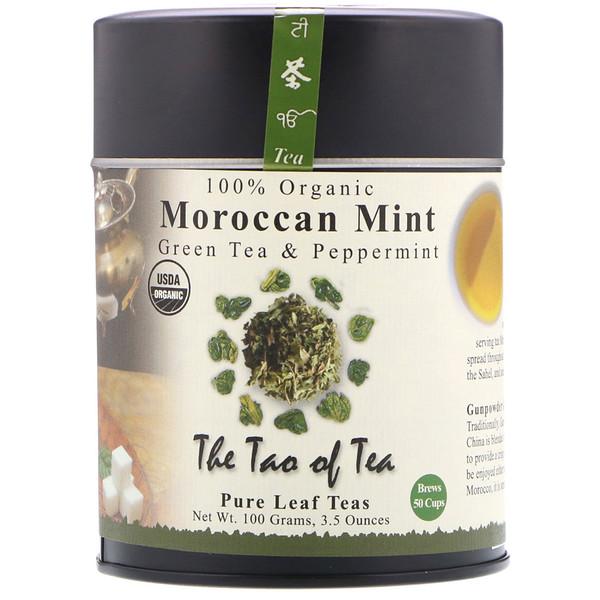 The Tao of Tea, 100% Органический Зеленый Чай с Марокканской Мятой, 3.5 унции (100 г) (Discontinued Item)