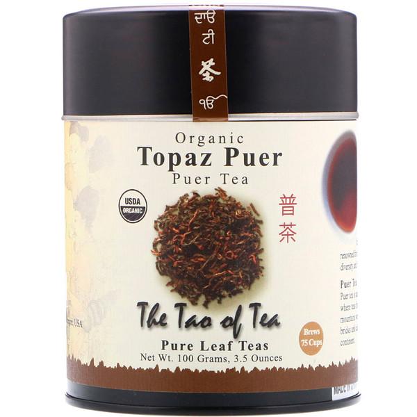The Tao of Tea, 100% Органический Чай Пуэр Топаз, 3.5 унции (100 г)