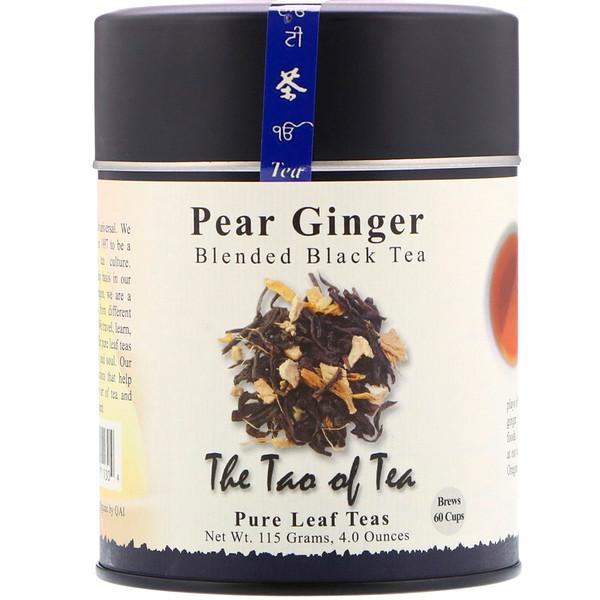 The Tao of Tea, Смешанный черный чай, Груша Имбирь 4 унции (115 г) (Discontinued Item)