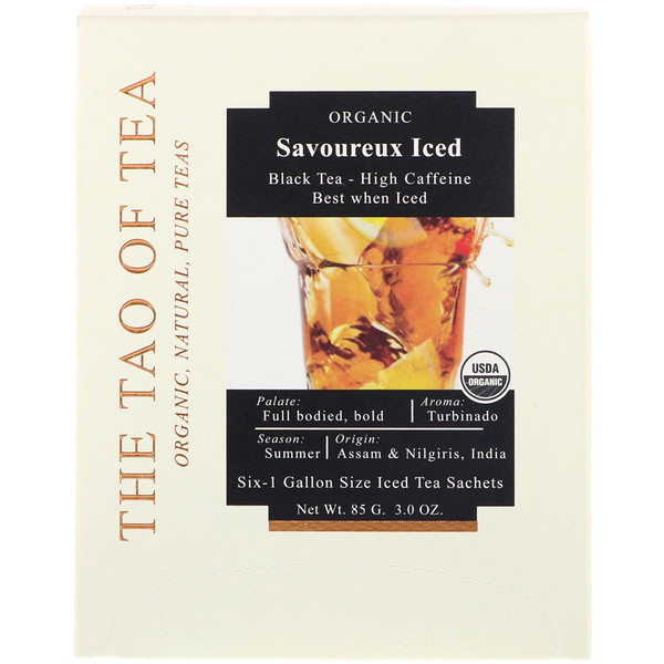 Savoureux Iced Tea, Black Tea, 6 - 1 Gallon Sized Sachets, 3.0 oz (85 g)