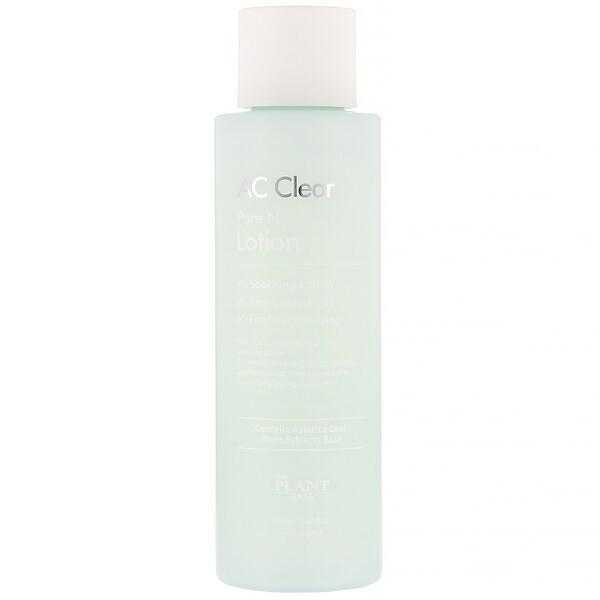 The Plant Base, Лосьон AC Clear, Pure N Lotion, 150 мл (5,07 жидк. унций)